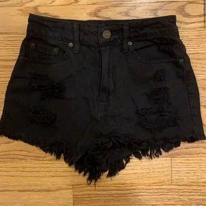 BDG High rise black shorts